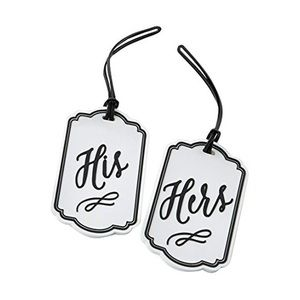 Kate Aspen His And Hers Luggage Tags NWT